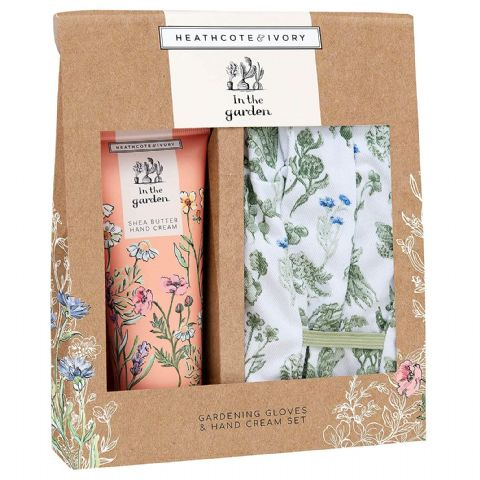 Gardening Gloves & Hand Cream Gift Set - In The Garden Heathcote & Ivory